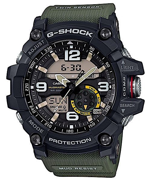 Ceas Sport Casio G Shock GG1000-1A3CR MUDMASTER,GREEN, ORIGINAL 100%