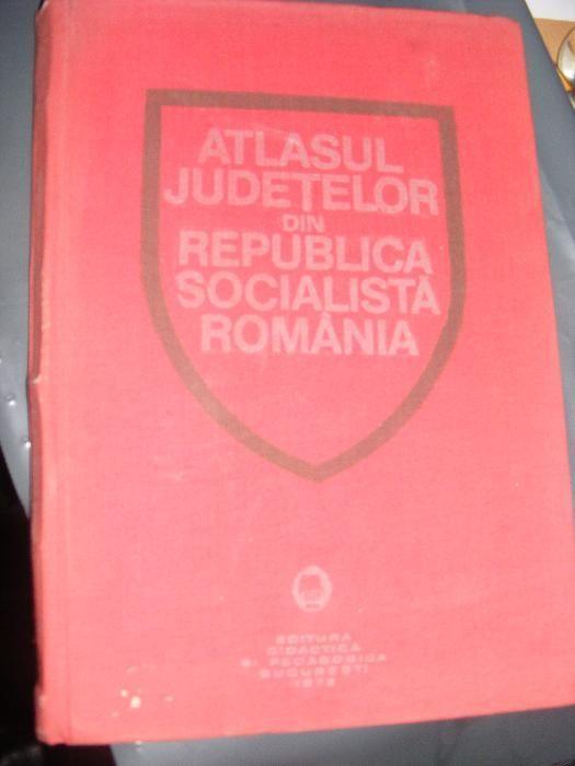 Atlasul Judetelor din Republica Socialista Romania 1978,coperti groase