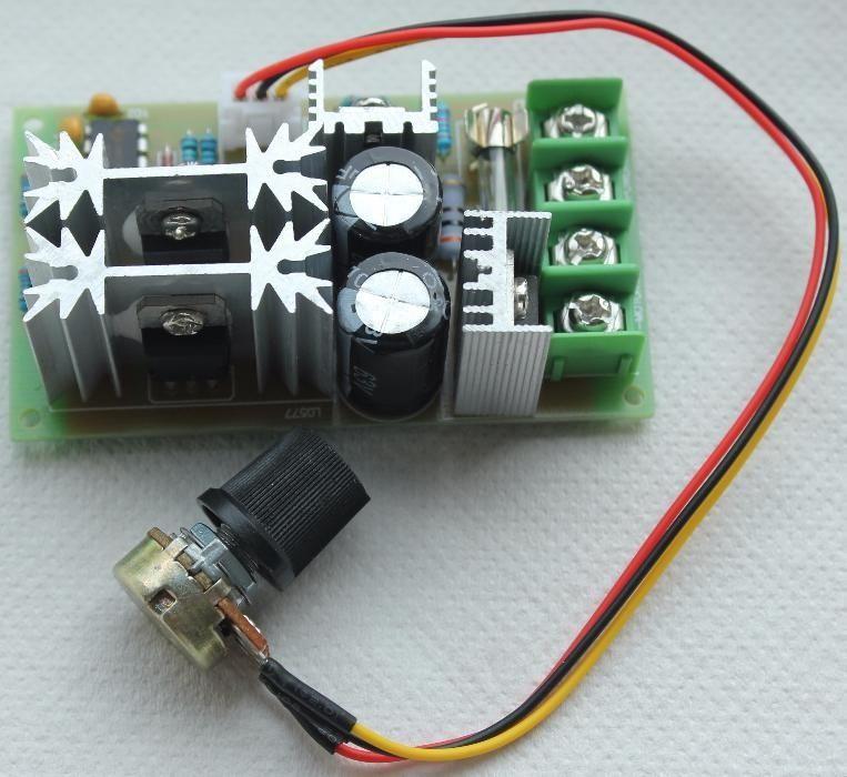 Regulator de turatie motor cc PWM 20A 10-60V - control regulat