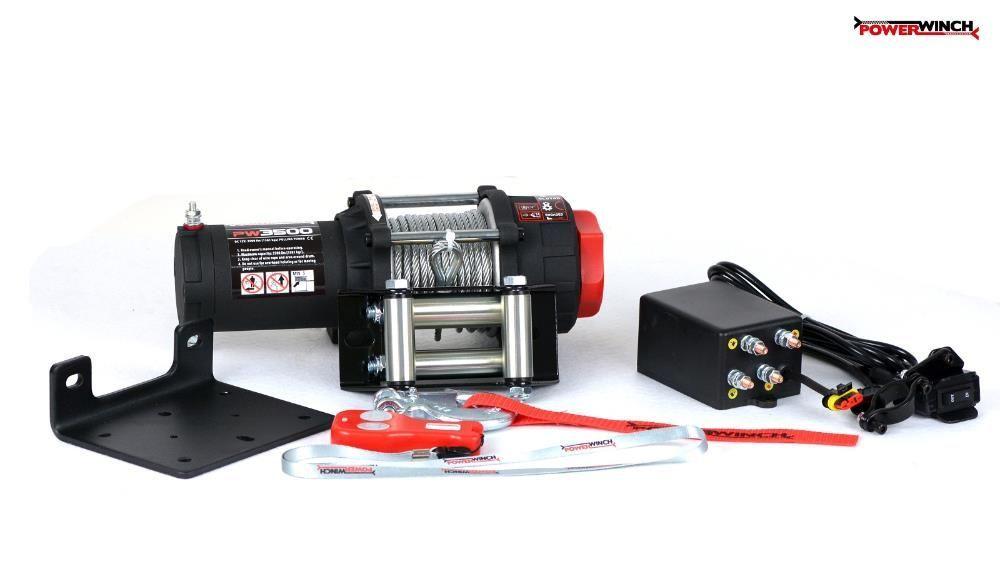 Troliu pentru ATV si UTV PW 3500 lb (1587kg) PowerWinch-NOU