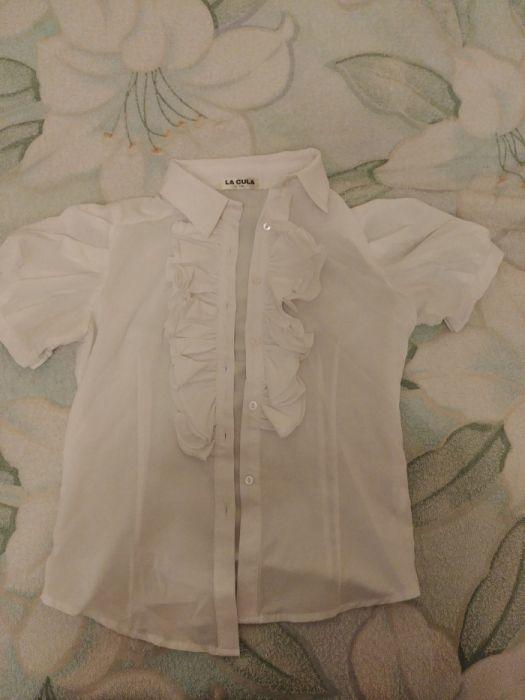 Школьная белая блузка новая