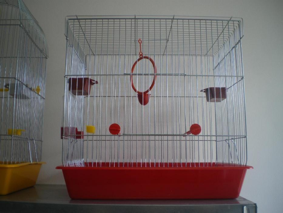 Клетка за птици средна L плосък покрив за 1 или няколко папагали