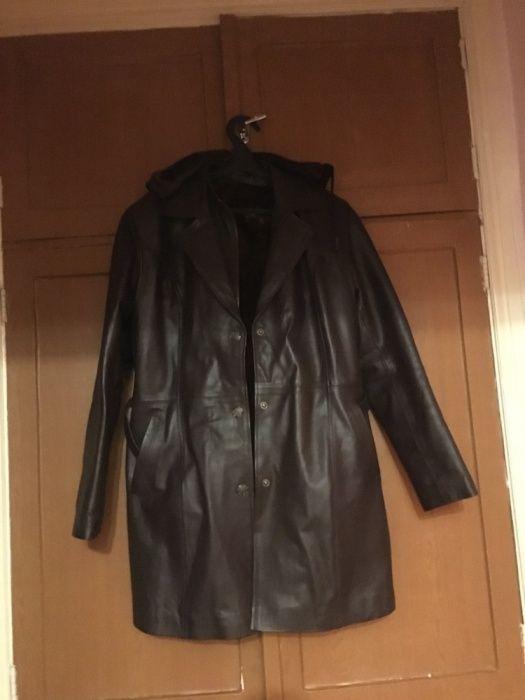 Куртка кожаная утепленная, 46-48