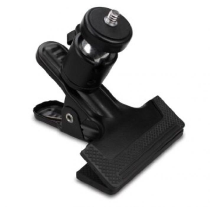 Clema Studio- Background Clamp With 1/4′ Ball Head (Black)