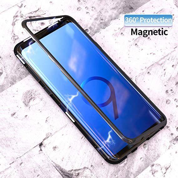 Husa Samsung 360 grade - inchidere prindere Magnetica, spate de sticla