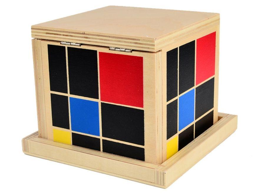 Montessori Trinomial Cube Монтесори Триномиално Сензорно Кубче дървен