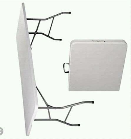 Rectangular mesa 8 lugares, plastica e simples de transportar p sala