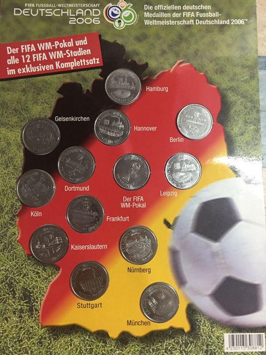 Colectie completa de 13 monede Germania 2006 world cup panini album