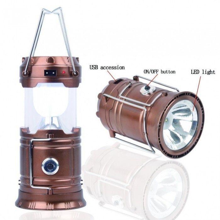 Lanterna si felinar 6 LED-uri pentru camping si pescuit