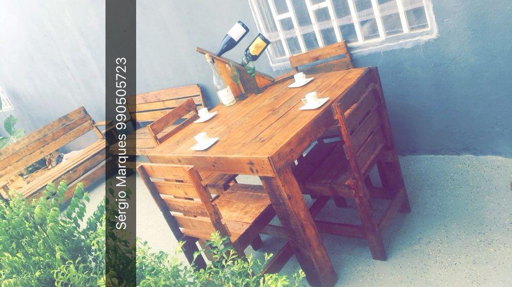 Mobília com madeira de paletes. Resistent, altament dcorativo e barato
