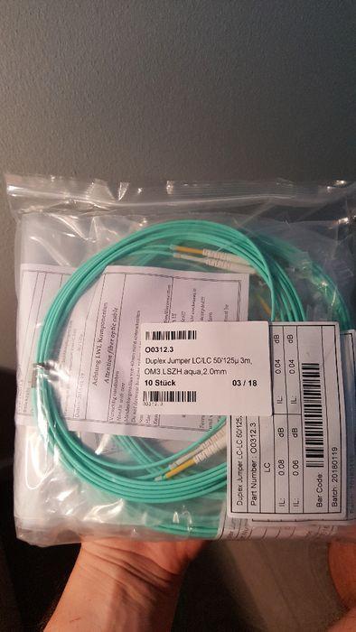 Cablu fibra optica duplex LC-LC, OM3, LSZH, 3m