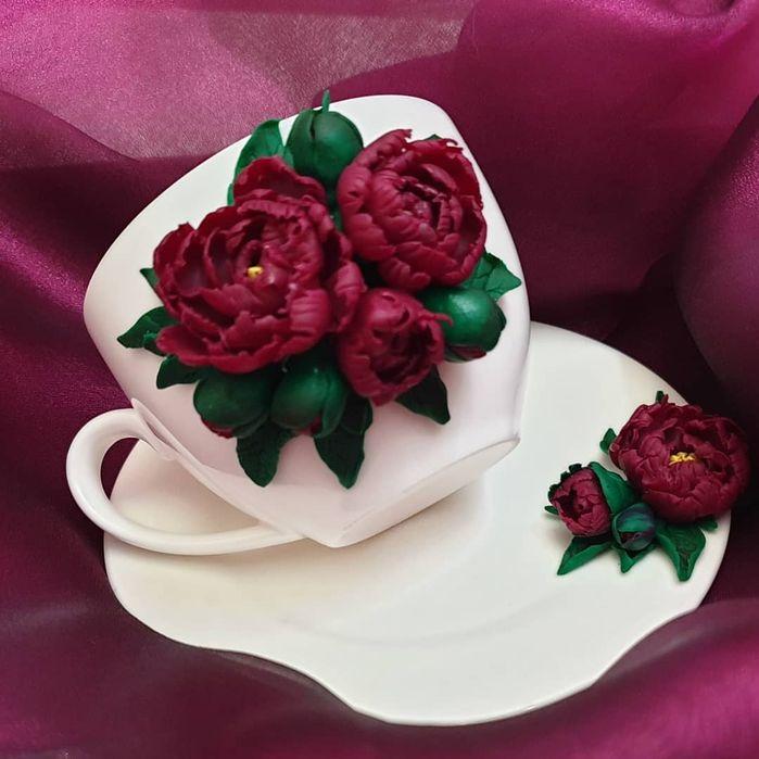 Кружки с декором ручной работы