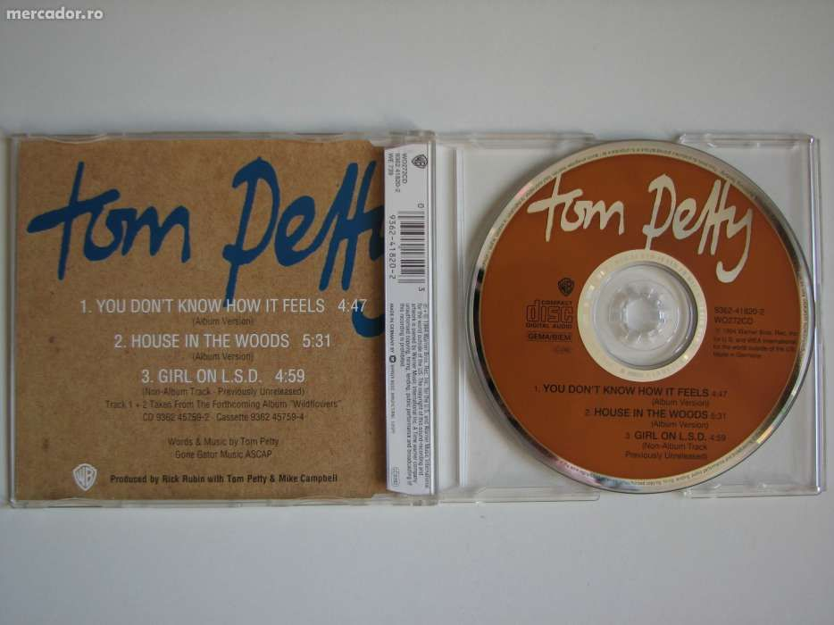 Tom Petty - You don't know how it feels CD Audio Maxi Single