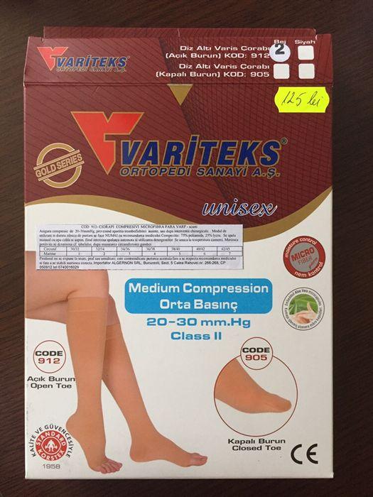 Ciorapi compresivi fără vârf,scurți
