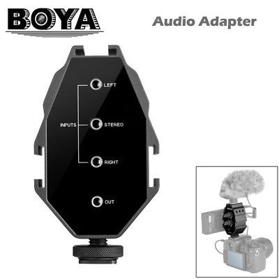 BOYA BY MP4 mixer adaptor audio pt 2 canale, DSLR, mirrorless