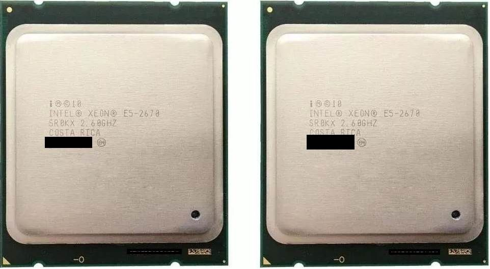 2 x Intel Xeon E5-2670 v1 8/16 nuclee 2.6Ghz - 3.3Ghz Socket 2011