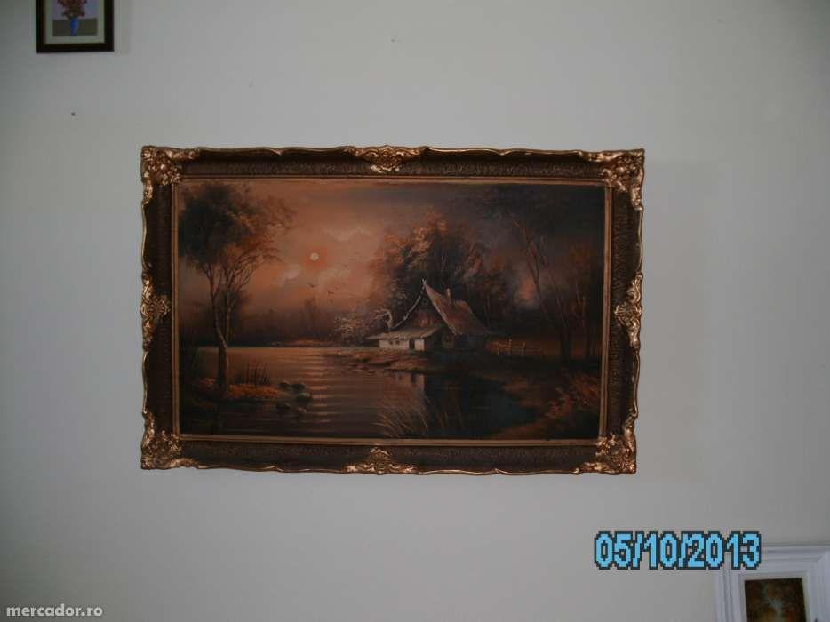 vand tablou in ulei, peisaj nocturn superb, pictor Seralio