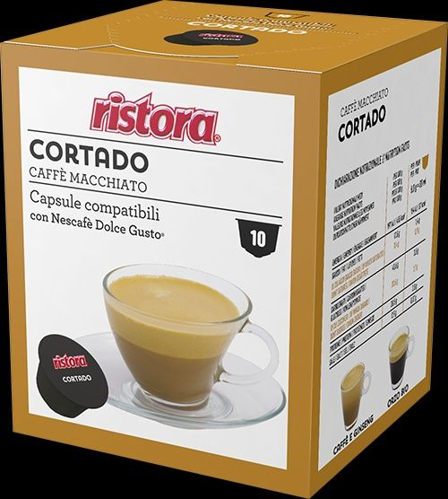 capsule ristora CAFFE CORTADO compatibil dolce gusto set 10 buc.