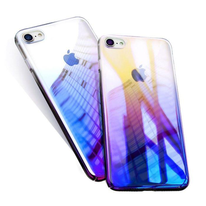 Husa Apple iPhone 6/6S, Elegance Luxury Gradient Color Albastru-Galben