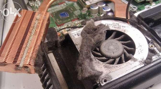 Перегрев ноутбука, чистка ноутбука от пыли, термопаста, греется ноутбу