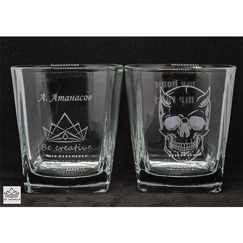 Персонално гравирана чаша за уиски
