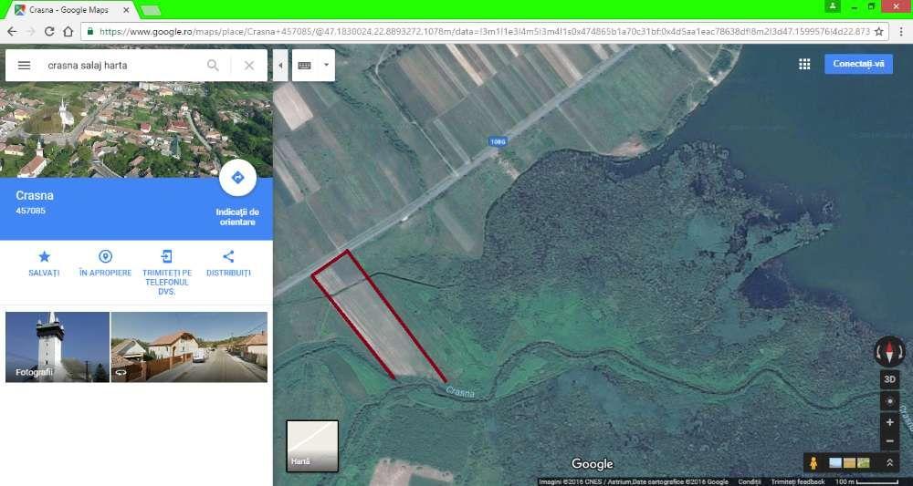 Vanzare  terenuri agricol  770 ha Salaj, Crasna  - 168 EURO