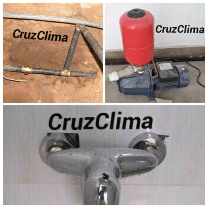 Instalação de tubagem de água, electrobomba, filtros e loiças sanitar.