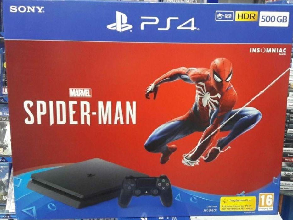 Ps4 500gb com jogo de spider man na caixa selado