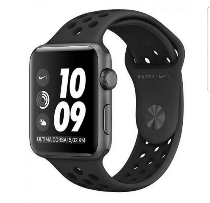 Apple watch Nike Plus 42 mm colour( Black) availble in the box