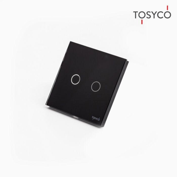 Tosyco.ro Intrerupator dublu wireless cu touch din sticla