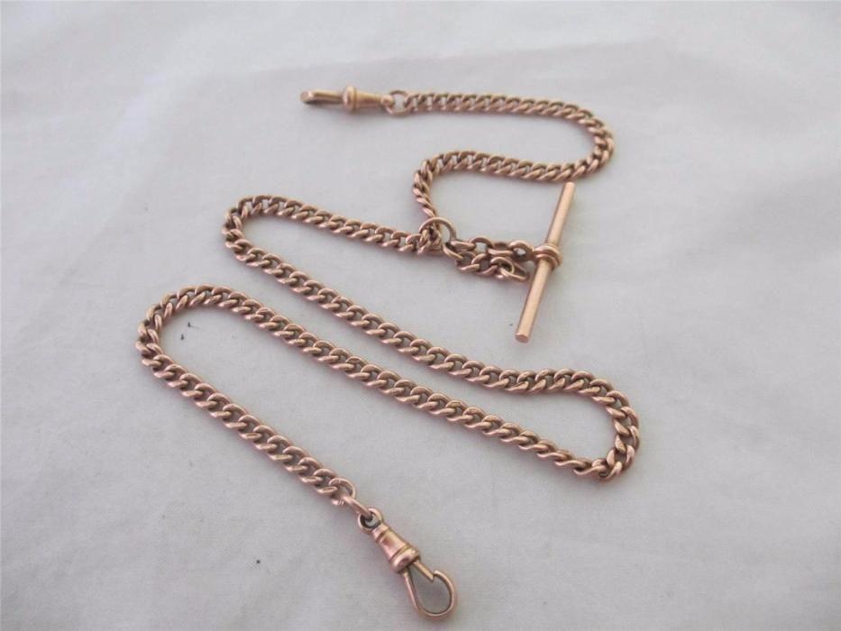 Античен златен синджир / кюстек 9к розово злато с печати
