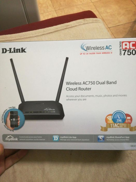 Router D-Linc ac 750 dual band