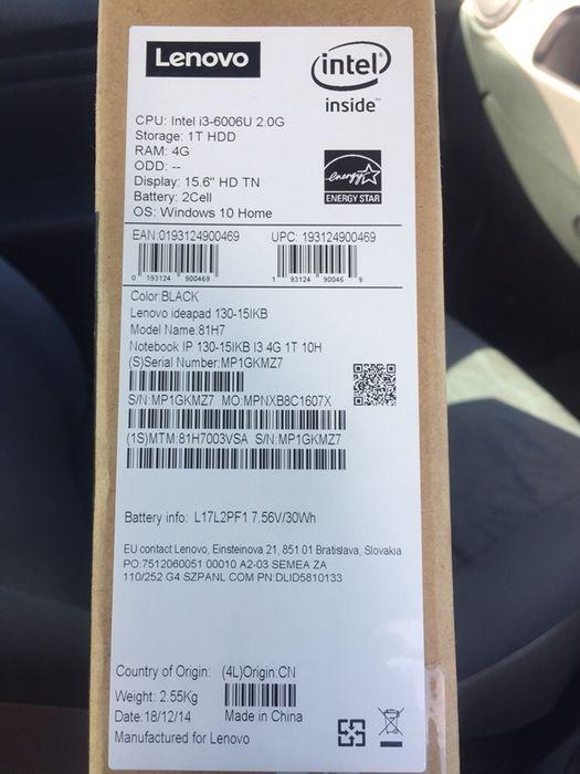 Lenovo i3 4ram 1terra HDD 6 geração