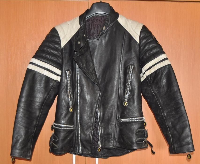 jacheta geaca moto, piele, moto cuir fight club jacket, vintage schimb