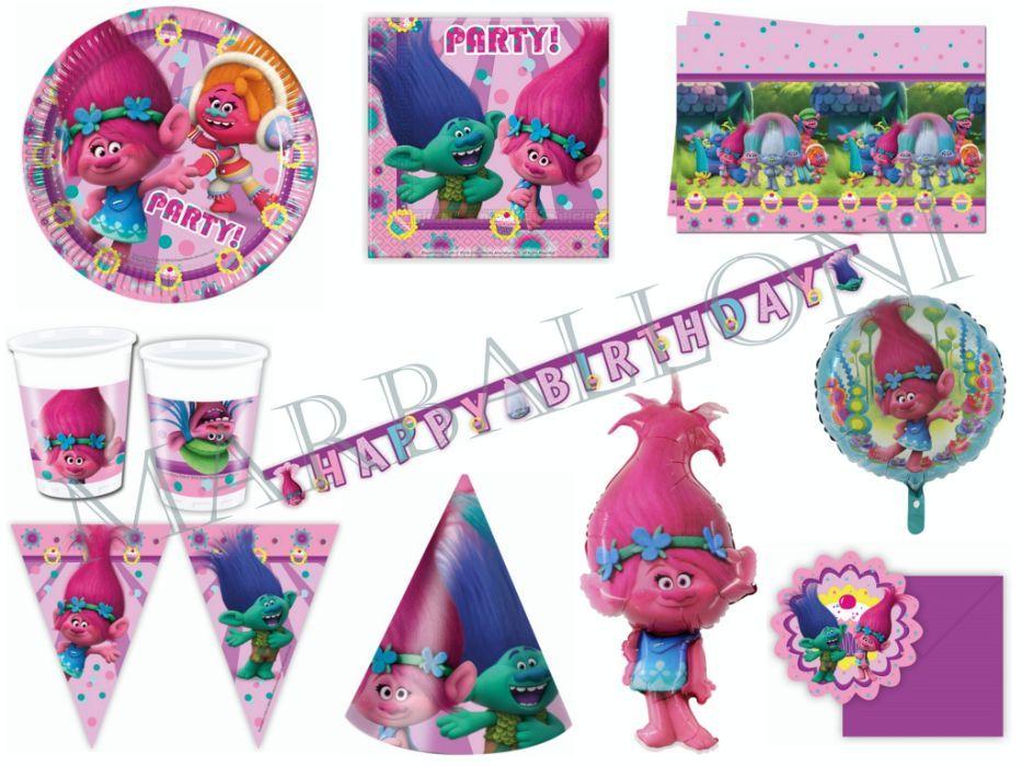 Парти Артикули Тролчетата, Украса за Рожден Ден Тролчета