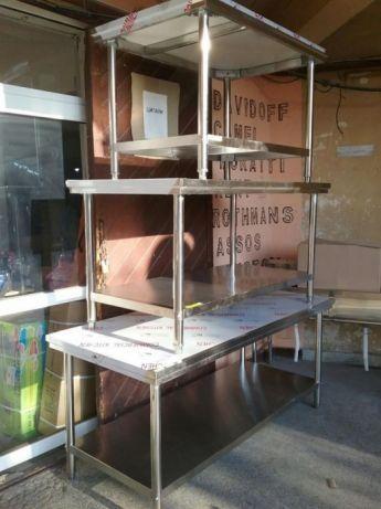 Маса Помощни за кухни и заведения от неръждавейка НОВО