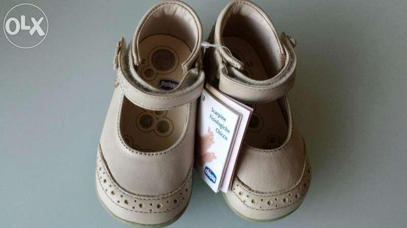Детски обувки Chicco за момиче от естествена кожа 21 номер