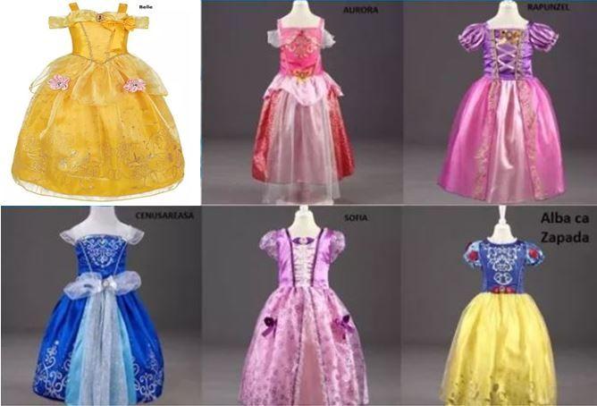 Rochita Sofia, Rapunzel, Aurora, Elsa, Alba Zapada, Belle, Cenusareasa