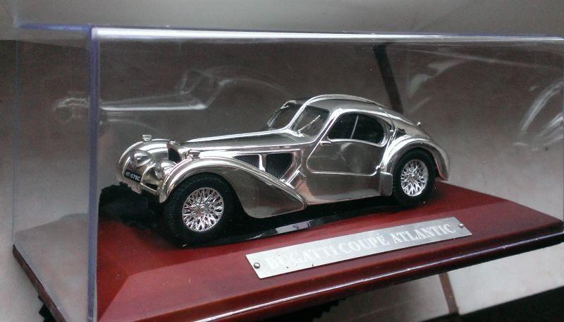 Macheta Bugatti 57S Coupe Atlantic 1938 - 1/43 Atlas Silver Cars