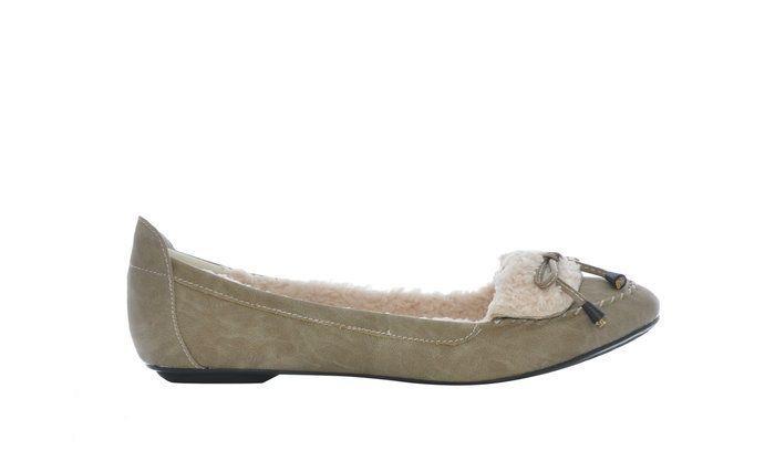 Pantofi cu blanita, masura 41, NOI, bej