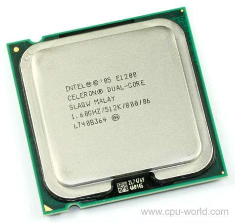 Procesor Intel® Celeron® Dual Core E1200, 1.6GHz, socket 775