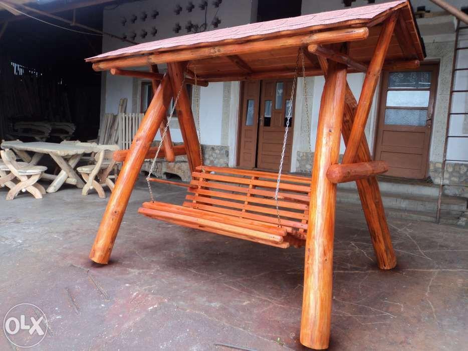 Balansoar rustic din lemn (**CASA PADURARULUI**)