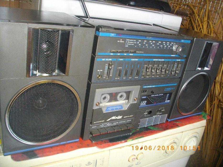 Metz MC-2-Оригинален Ретро 3 Бандов Радио Касетофон-Рекордер-Усилвател