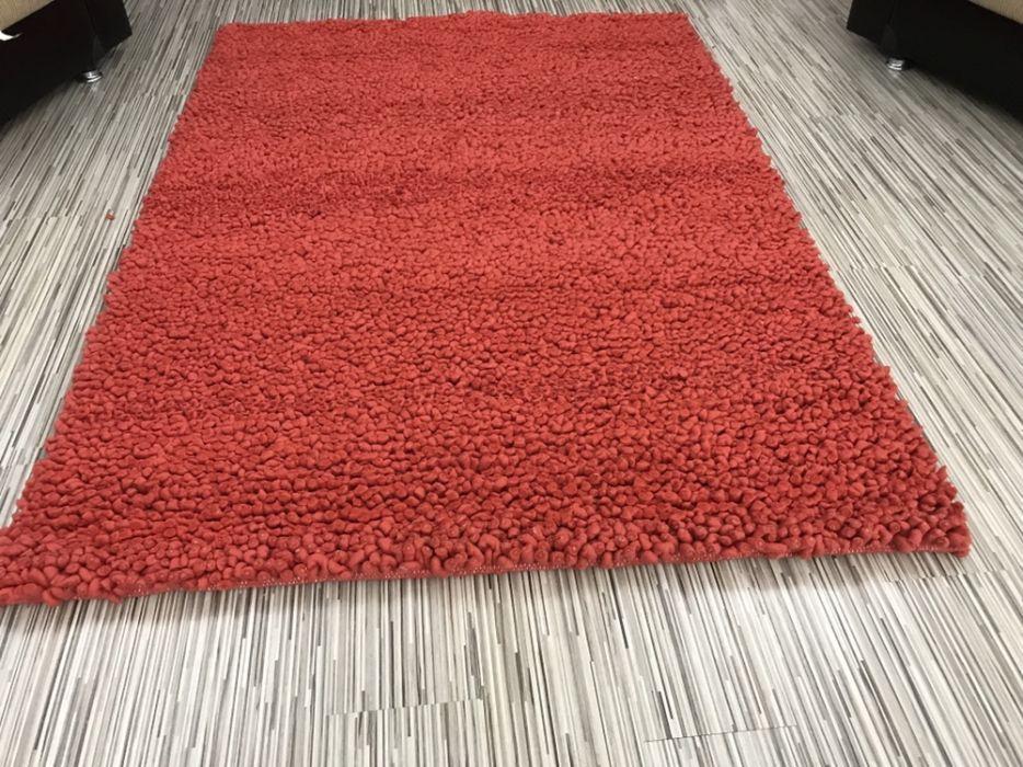 Carpet covor roșu de lâna cusut manual
