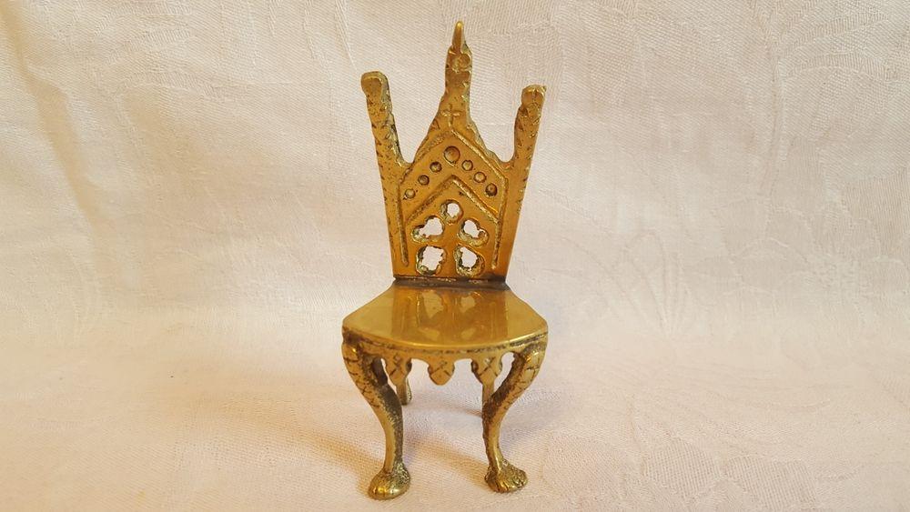 Scaun din bronz Vintage