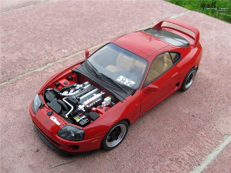KIT Macheta auto 1:24 Toyota Supra cu motor complet - Cititi descriere