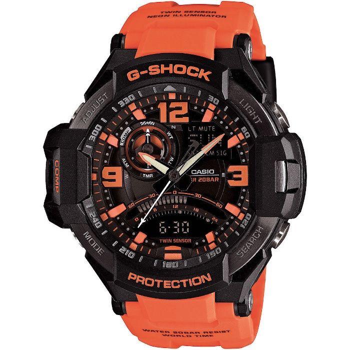 Ceas Sport Casio G Shock Gravitymaster GA1000-4A Orange, NOU,Garantie