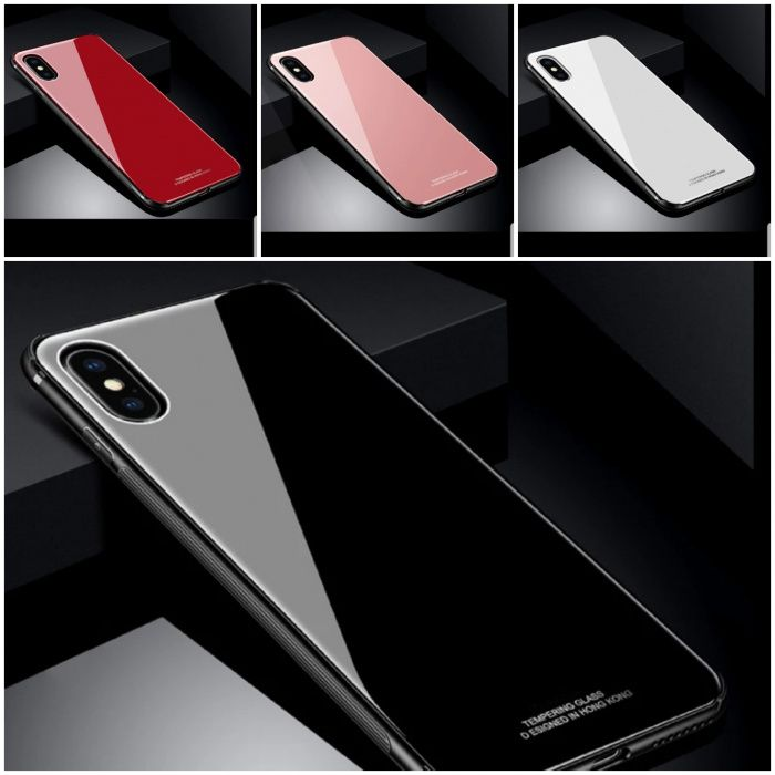Huse silicon Tempered Glass Iphone X / Iphone 7 / Iphone 8
