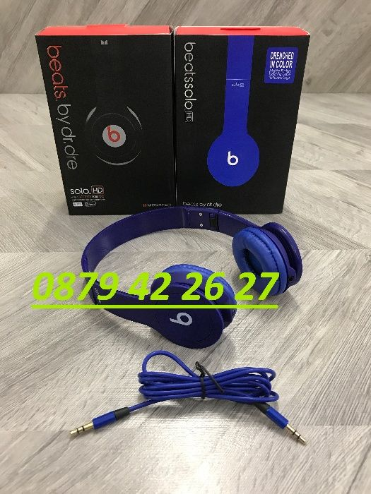 Слушалки- Beats by Dr. Dre Tour, тип- Studio Monster, solo H