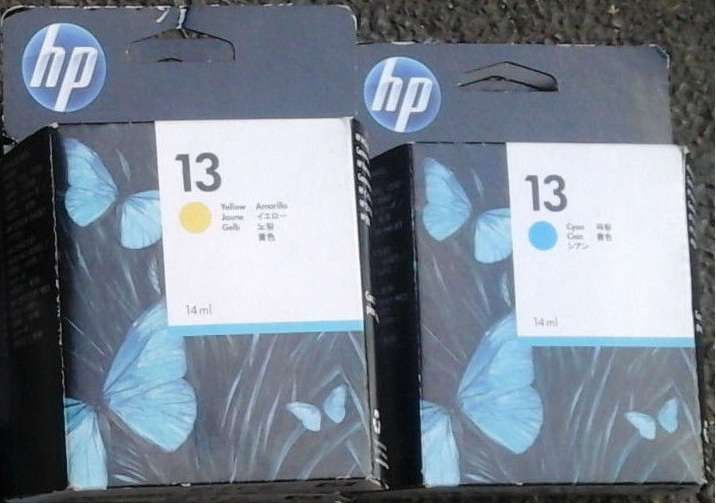 HP13, HP12 cartuse imprimanta C4815A cyan,C4817A yellow; C4806A yellow